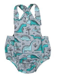Dinosaur Baby Girl Summer Romper