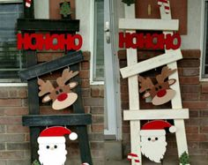Change your kits out monthly. Hang on your wall place in you window or place on your porch. 15 order unfinished or finished in your choice of color. Christmas Wood Crafts, Pallet Christmas, Christmas Signs, Outdoor Christmas, Christmas Projects, Holiday Crafts, Christmas Holidays, Christmas Ornaments, Holiday Decor