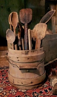 Old Wooden ware Early Country Antiques