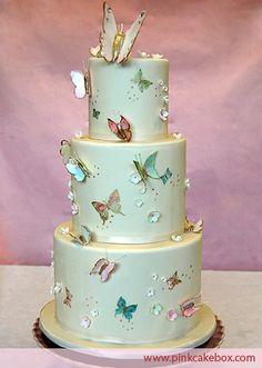 Beautiful butterfly cake.  I love Pink Cake Box's work!