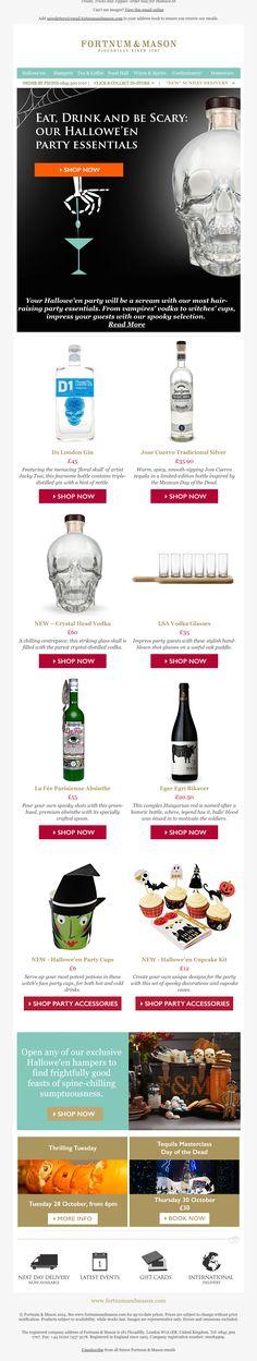 Fortnum & Mason email marketing design for Halloween