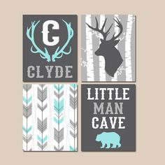 ★WOODLAND NURSERY Wall Art, Baby Boy Tribal Artwork, Arrows Deer Bear Antlers Birch Tree, Little Man Cave, Canvas or Prints,Set of 4  ★Includes 4 pieces of wall art ★Available in PRINTS or CANVAS (see below)  ★SIZING OPTIONS Available from the drop down menu above the add to cart button with prices. >>>  ★PRINT OPTION Available sizes are 5x7, 8x10, & 11x14 (inches). Prints are created digitally and printed with UltraChrome Hi-Gloss ink on professional 68lb satin luster photo paper. Prints…