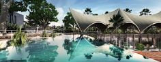 alexis dornier caps bali tennis club proposal with rhythmic roof canopy