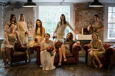 Industrial Wedding Full of Bold Patterns and Glitter by Matt Parry