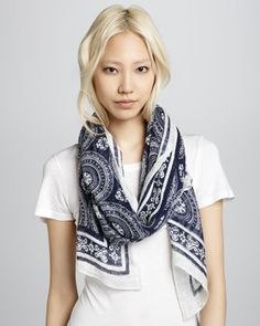 Tiles Ruins Scarf, Ship by Michael Stars at Neiman Marcus.