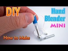 (4) DIY Miniature Hand Blender | DollHouse | No Polymer Clay and PVC! - YouTube