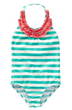 Girls Mini Boden Ruffle Swimsuit  | Nordstrom