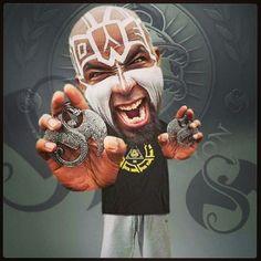 Tech  N9NE Tech N9ne, Strange Music, Hip Hop, 4 Life, Brown Eyes, Halloween, Tattoo Ideas, Painting, Artists