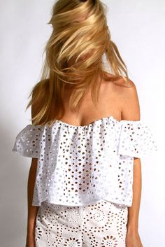 d985a35aea9 Stone Cold Fox Holy Tube top in eyelet in white