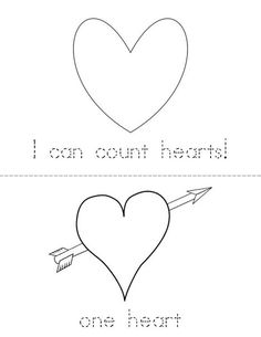 I can count hearts! Book from TwistyNoodle.com