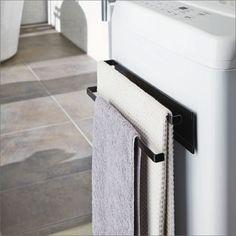 Magnet Towel Hanger Tower washing machine next to the magnet hanger 2 Bath Towels, Bath Mat, Towel Hanger, Kitchen And Bath, Bathroom Accessories, Basin, Toilet Paper, Washing Machine, Shelving