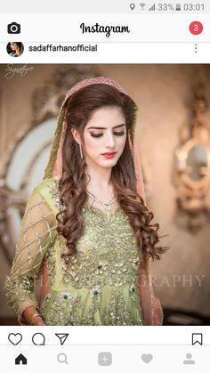 ❤❤❤❤ Pakistani Wedding Outfits, Pakistani Wedding Dresses, Pakistani Dress Design, Black Bridal Dresses, Wedding Dresses For Girls, Bridal Looks, Bridal Style, Pakistan Bridal, Bridal Makeover