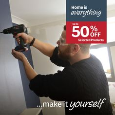 Home is everything..make it yourself with up to 50% off selected DIY products. Diy Garage Storage, Building Materials, Home Living Room, Diy Furniture, Everything, The Selection, Diy Products, Make It Yourself, How To Make