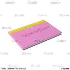 Faded Damask 7 Guest Book