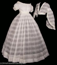 c. 1862 sheer dress sold on ebay by Time Traveler's Antiques