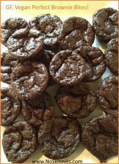 Perfect Brownie Bites - Gluten Free, Vegan & Low Carb! — NO SKINNIES