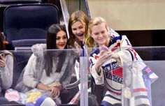 _______ Candids _______ ... Victoria and Madison, - New York Rangers vs Toronto Maple Leafs in NYC  ... Victoria Justice with Fans