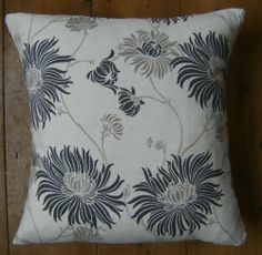 Bespoke covers individually made for you You are purchasing one pair of cushion covers professionally made with Kimono Charcoal A 93 cotton 7 linen