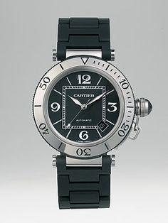 8f3aa6706f0 Cartier - Pasha Seatimer Stainless Steel Watch   Rubber Automatic Bracelet  Bracelet