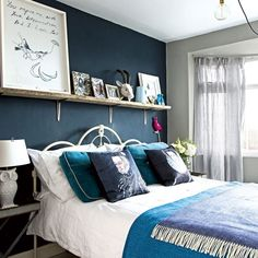 Planning a new look for your bedroom? We have bedroom ideas galore to inspire you, whether you want a country bedroom, modern bedroom or traditional bedroom scheme. Monochrome Bedroom, Modern Bedroom, Guest Bedrooms, Bedroom Sets, Blue Bedrooms, Master Bedroom, Bedroom Furniture, Home Furniture, Bedroom Decor