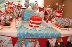 Dr. Suess themed birthday party