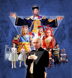 Doctor Who: The Celestial Toymaker Digital artwork by Alistair McGown © Starring William Hartnell. Doctor Who Books, Doctor Who Poster, Doctor Who Art, F Movies, William Hartnell, Classic Doctor Who, Science Fiction Series, First Doctor, Torchwood