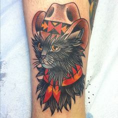 Displaying (17) Gallery Images For Traditional Cat Tattoo Tumblr...