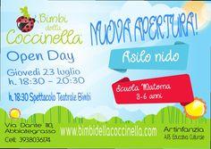 Open day - Artinfanzia-Bimbi della Coccinella  @ Via Dante 110 - Spazio Artinfanzia - 23-Luglio https://www.evensi.com/open-day-artinfanzia-bimbi-della-coccinella-via-dante-110/156465701