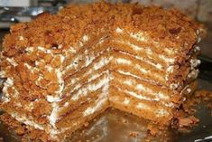 Best chocolate mousse filling for cake - Popular recipes for baking masters Russian Cakes, Russian Desserts, Russian Recipes, Cake Recipes, Dessert Recipes, Bolet, Good Food, Yummy Food, Honey Cake