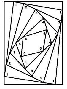Reverse Iris Folding template