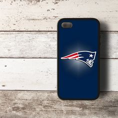NFL New England Patriots Logo Deep Blue HYBRID iPhone 4 4s Case Cover BLACK - PDA Accessories