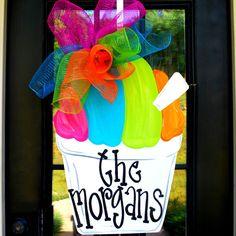 Door Hanger: Snowball, Summer Door Hanger, Door Decoration, Summer Wreath, Snowball Wreath on Etsy, $45.00