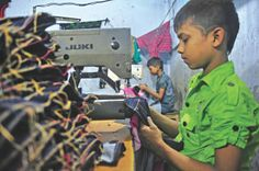 This pin shows one of the negative impacts of globalisation, sweatshops. this pin shows a child working in a sweatshop