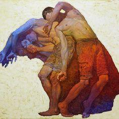"Denis Sarazhin - ""Prism"" - Oil on Canvas - 55 x 58 inches Arcadia Contemporary Art And Illustration, Figurative Kunst, Ukrainian Art, A Level Art, Wow Art, Art Academy, Figure Painting, Contemporary Paintings, Art Inspo"