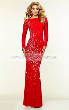Scoop Long Sleeves Sheath Zipper Floor-length Formal Dresses afbb1067--Hodress