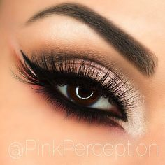 neutral smokey #arabic #cat_eye #makeup - love the double wing detail on the inner + outer corner @pinkperception