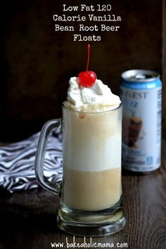 Bakeaholic Mama: Guilt Free Vanilla Bean Root Beer Float That Will Rock Your World and an Honest Tea Giveaway