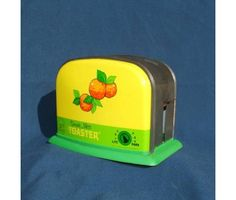 Vintage Ohio Art Sunnie Miss Oranges Tin Toy Toaster