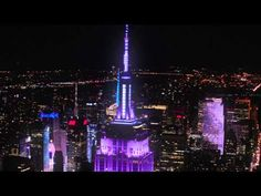 Grateful Dead – Empire State Building Light Show - US Blues - 7/4/2015 |Soldier Field, Chicago AND NYC!!!  Freaking awesome!!   #GD50 #FareTheeWell