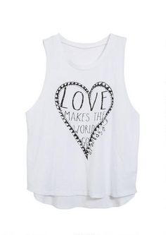 Love Is All Around Tank - Graphic Tees - Clothes - dELiA*s