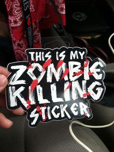 Zombie killing sticker