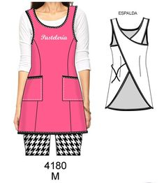 Sewing Aprons, Dress Sewing Patterns, Sewing Clothes, Apron Designs, Sewing Class, Dressmaking, Work Wear, Barbie, Clothes For Women