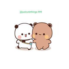 Cute Couple Wallpaper, Wallpaper Iphone Cute, Japanese Cartoon, Cute Japanese, Bear Cartoon, Cartoon Art, Kawaii Girl, Kawaii Anime, Cute Cartoon Pictures