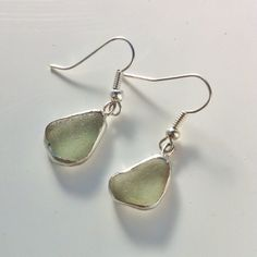 Earrings made from Weymouth sea glass :)
