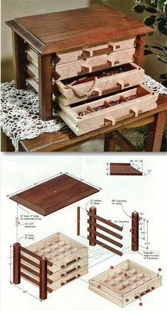 Jewelry Box Plans - Woodworking Plans and Projects | http://WoodArchivist.com