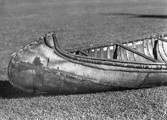 Birch bark canoe belonging to Monroe Killy, 1949