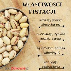 Szukacie pomysłu na zdrowe przekąski? Wypróbujcie pistacje! Te orzechy to źródło wielu witamin i minerałów.  #pistacje #przekąski #zdroweprzekąski #orzechy #zdrowie #odżywianie #nuts #helathy #snacks #pistachios #abcZdrowie Healthy Skin, Sick, Almond, Good Food, Food And Drink, Vegetables, Fitness, Kitchens, Gymnastics