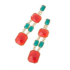 Carmela Earrings Coral and Turquoise
