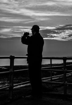 Blind Veterans UK photography week, spring This black and white image of Blind Veterans UK member William Phillips, was captured by Keith Harness whilst members of the group took part in low light photography. Brighton Photography, White Image, Arts And Crafts Projects, Low Lights, Light Photography, Spring 2014, Blind, Group, Black And White