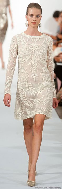 Maybe white is not the color for the office but the dress is. Now just wait for the spring & summer of 2014...  Oscar de la Renta | S/S 2014
